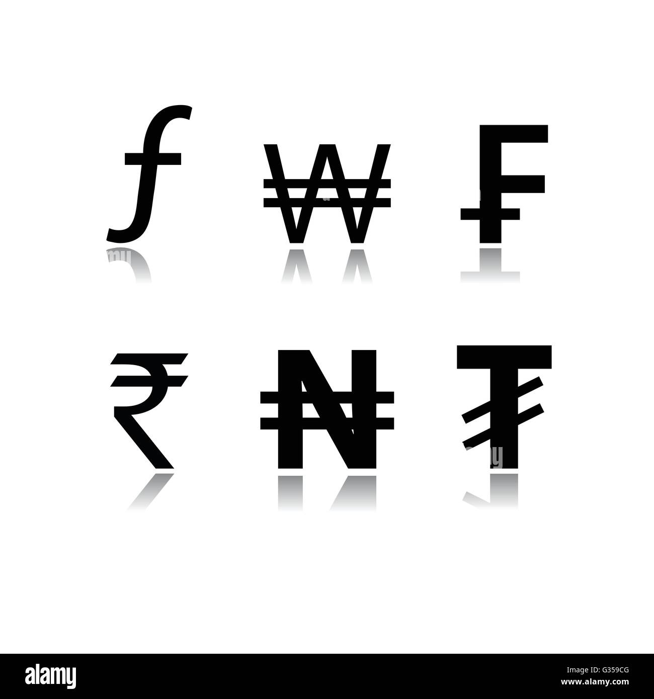 Set of currency symbols - Stock Vector