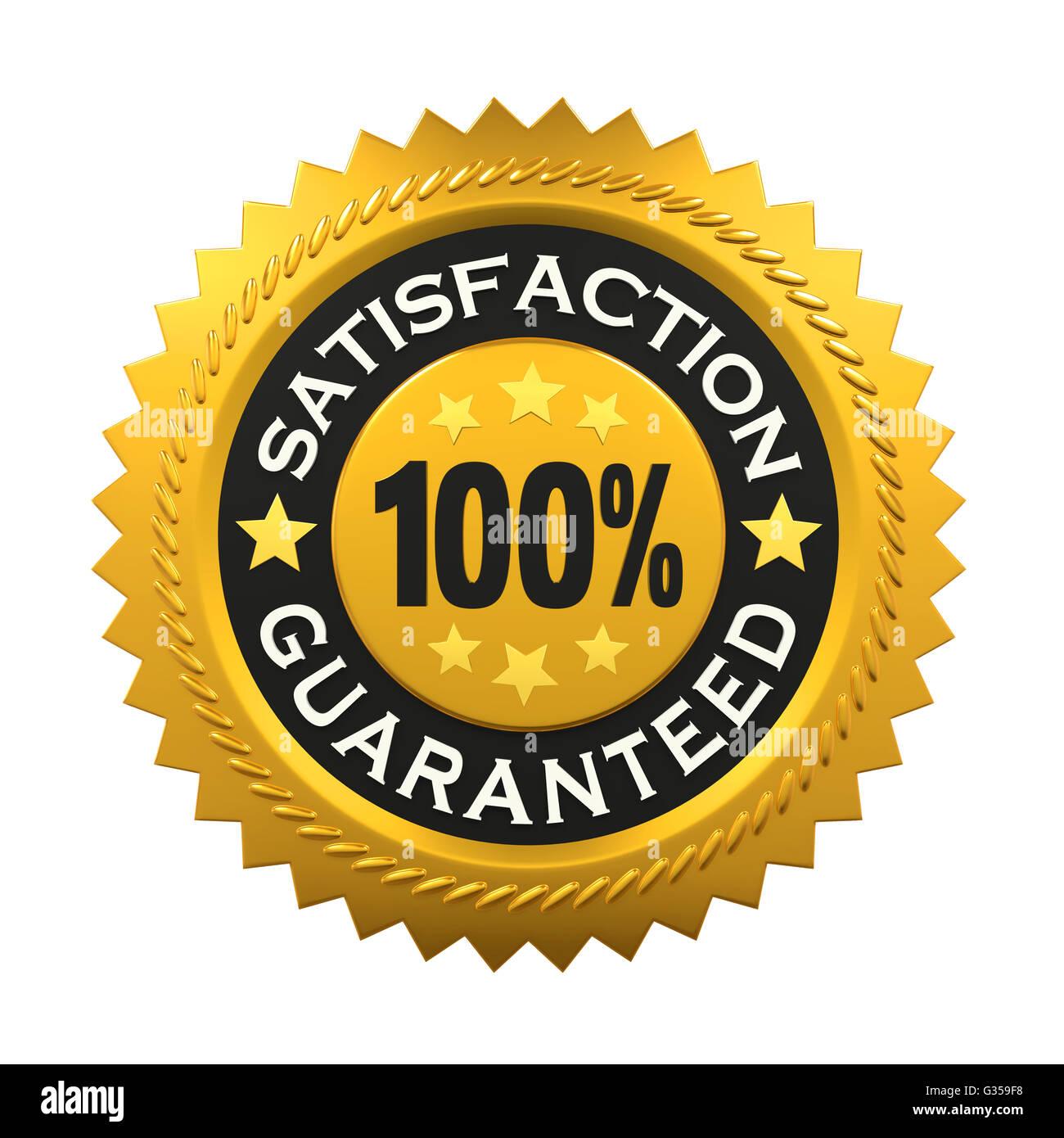 Satisfaction Guaranteed Label - Stock Image