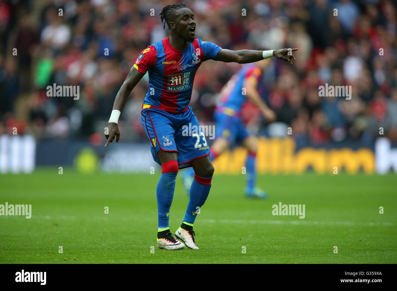 Crystal Palace's Pape N'Diaye Souare seen during the Emirates FA Cup Final between Crystal Palace and Manchester - Stock Image