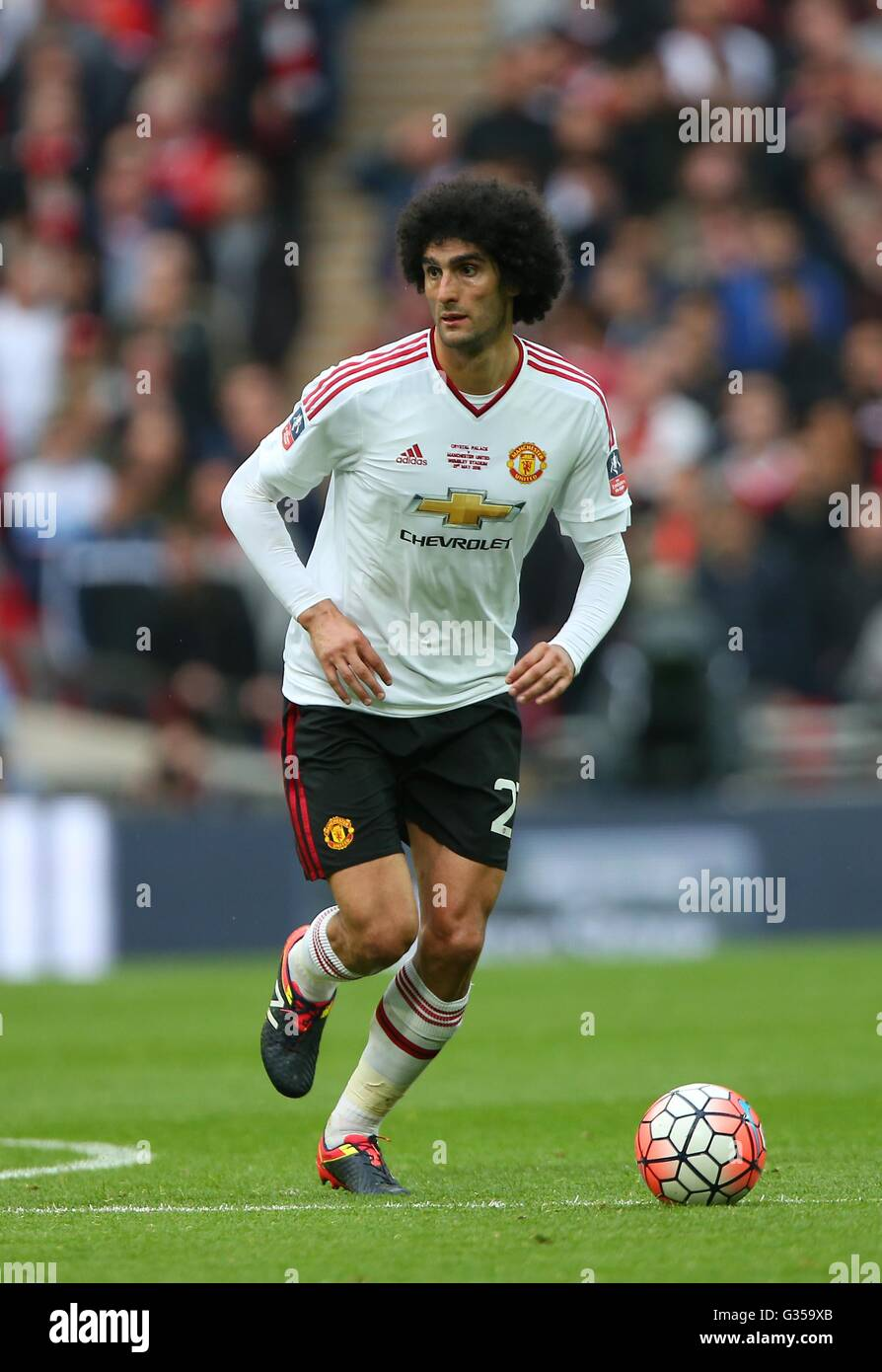 Marouane Fellaini of Manchester United seen during the Emirates FA Cup Final between Crystal Palace and Manchester - Stock Image