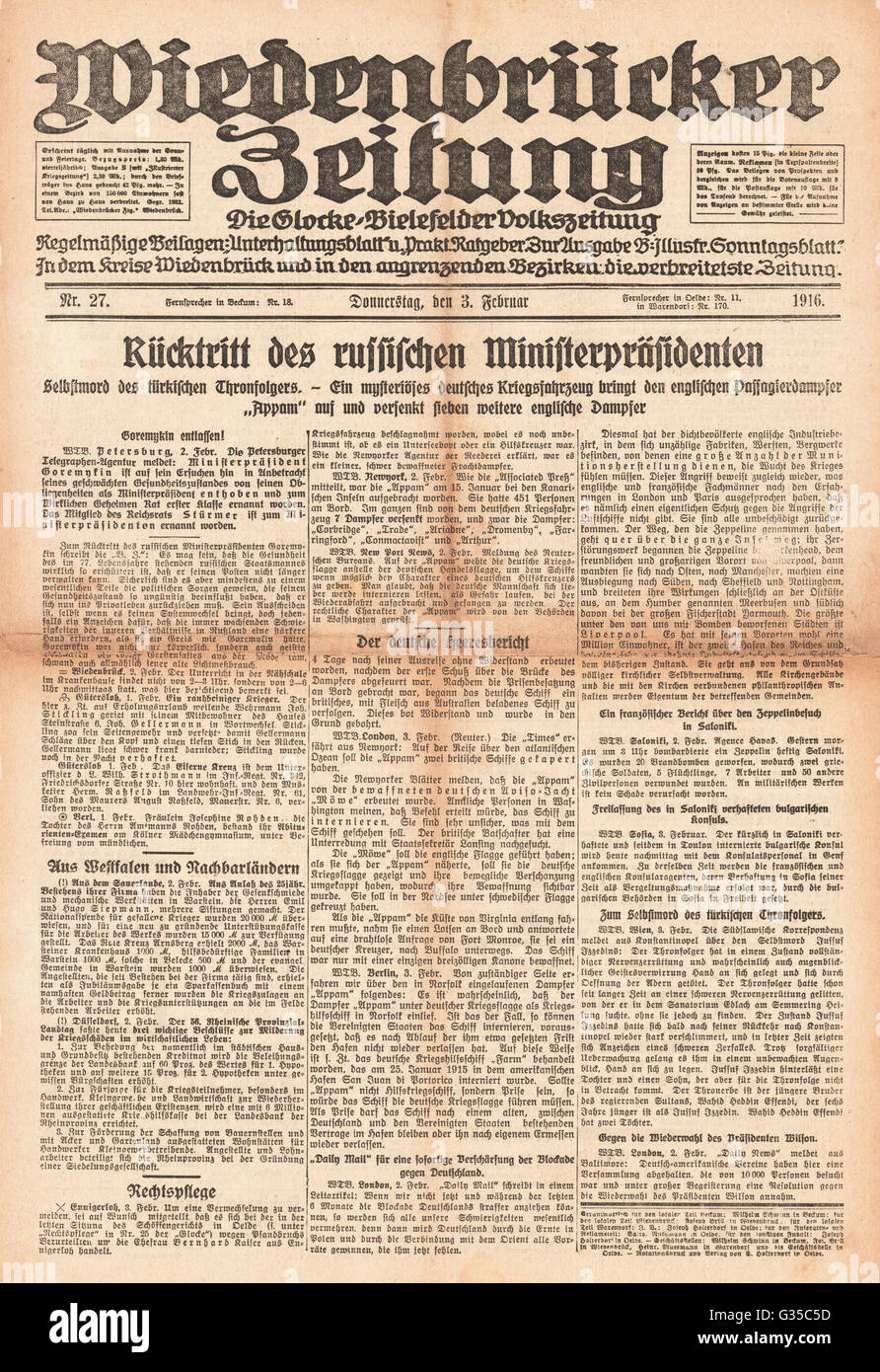 Wiedenbrcke Zeitung Front Page Russian Prime Minister Ivan Logginovich Natalia Poklonskaya Tsar