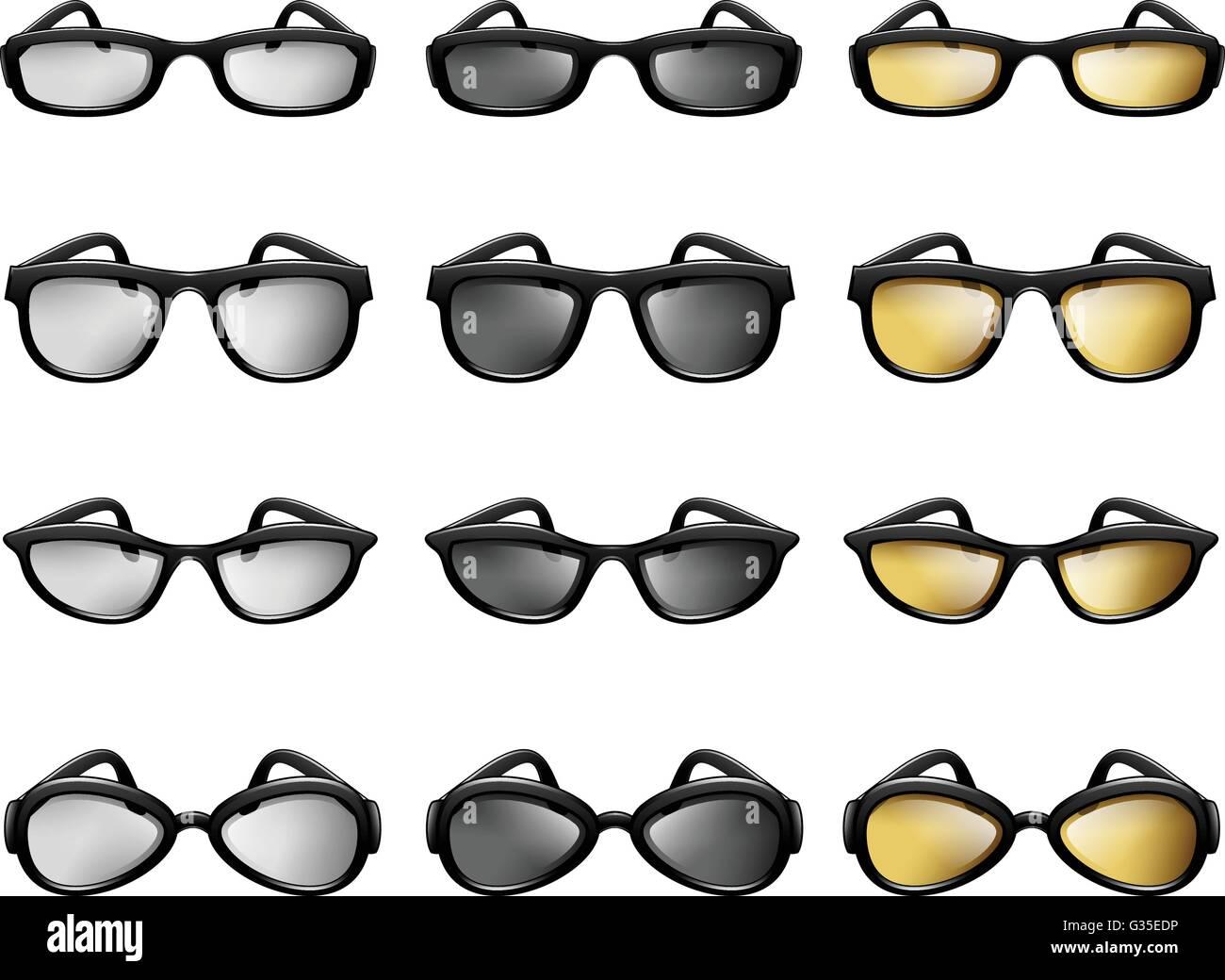 Eyewear, Eyeglass, Sunglass, Optometry, Fashion Accessories - Stock Image