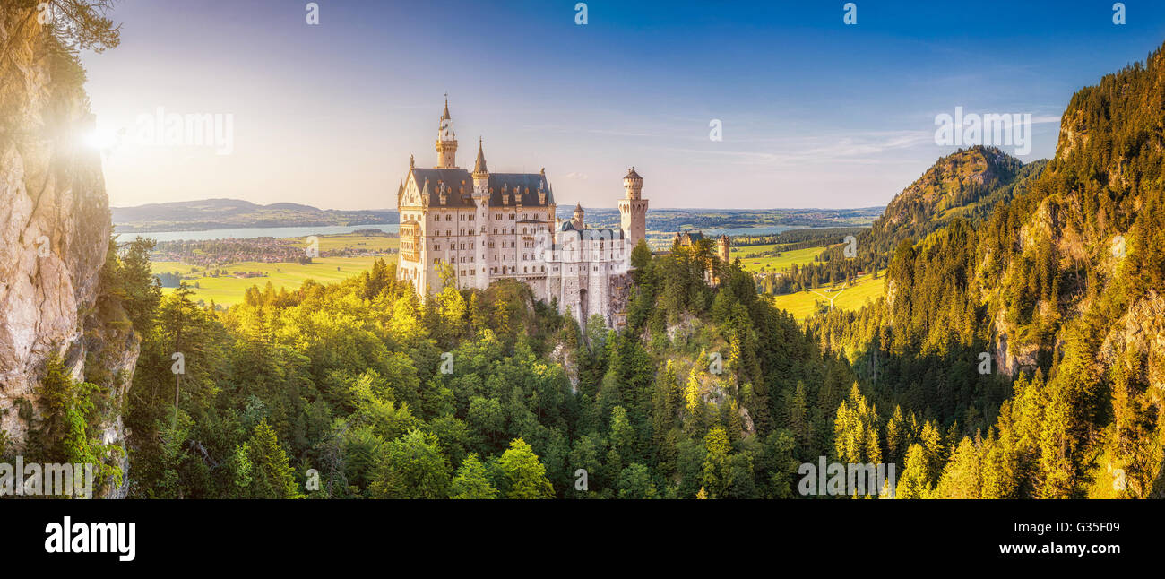 Neuschwanstein Castle, Bavaria, Germany - Stock Image