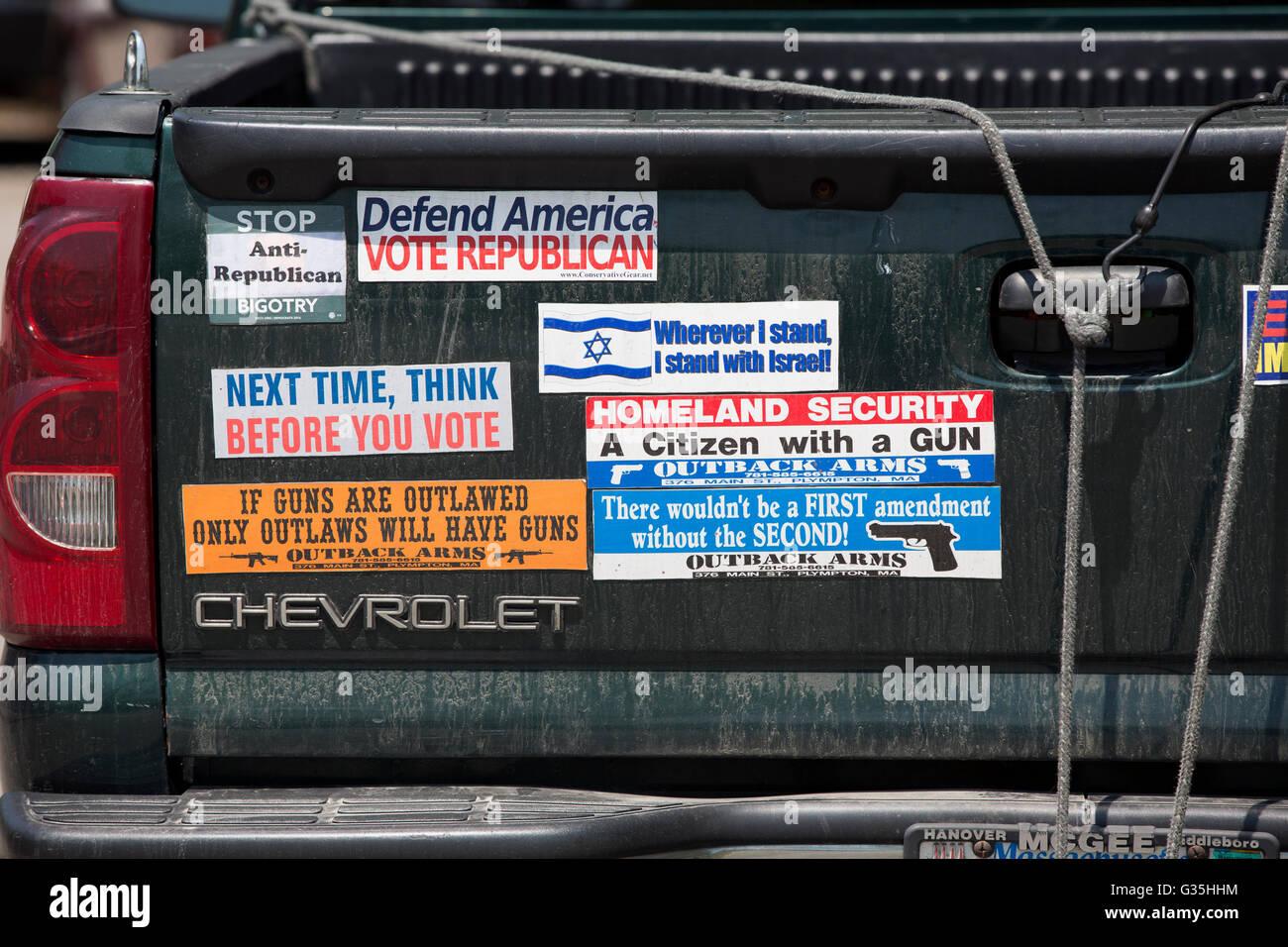 Right wing republican bumper stickers stock image