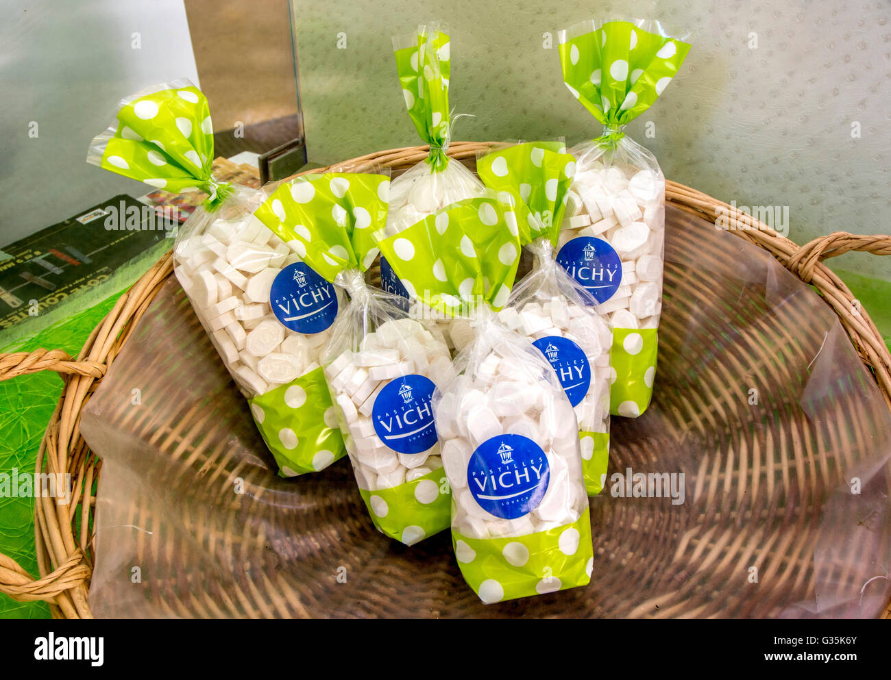 Vichy lozenges 'pastilles', Allier, France, Europe - Stock Image