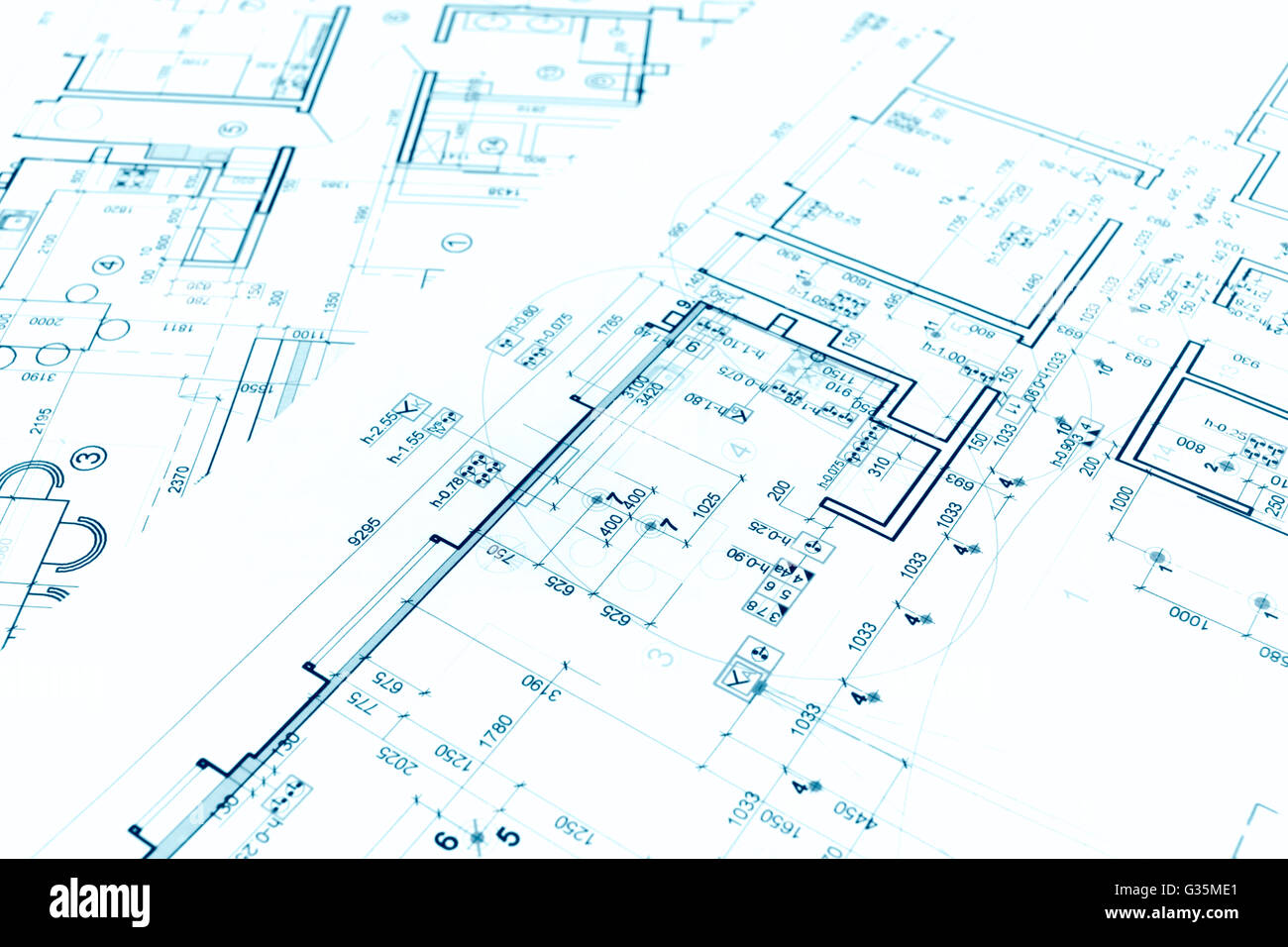 Architectural Project Floor Plan Blueprints Construction Plans