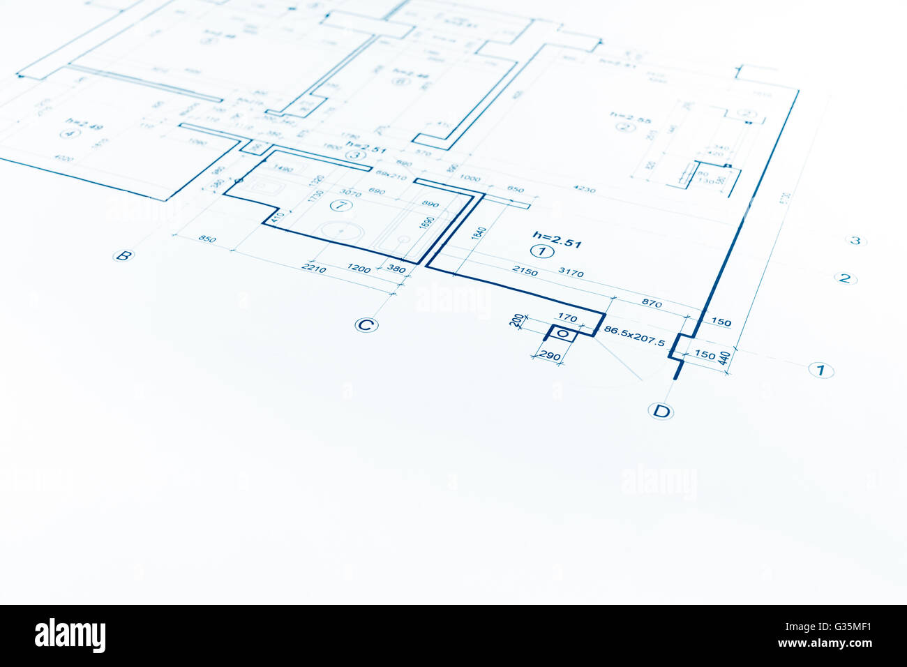 architectural background with floor plan blueprint technical