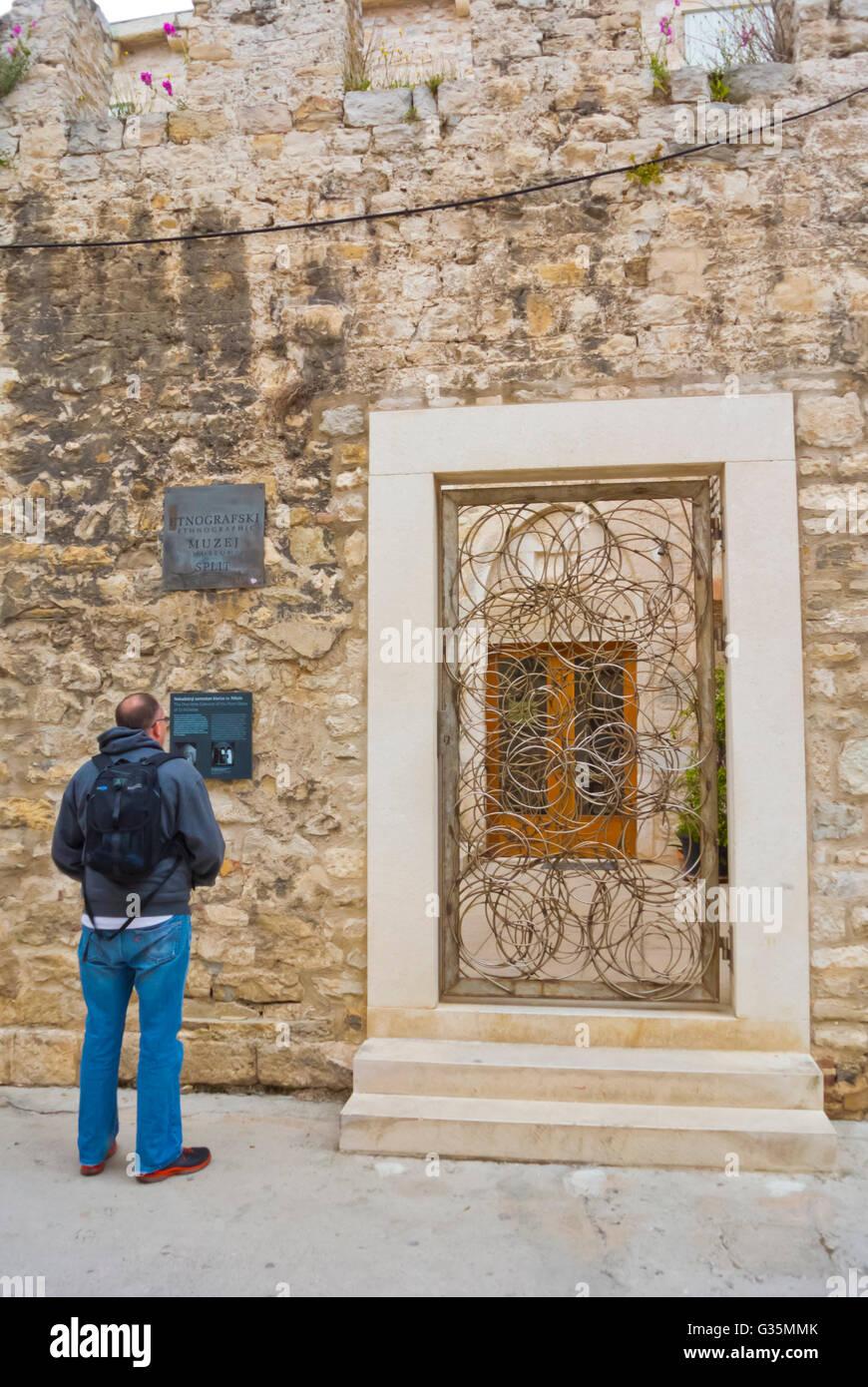 Museum of Ethnography, Grad, old town, Split, Dalmatia, Croatia - Stock Image
