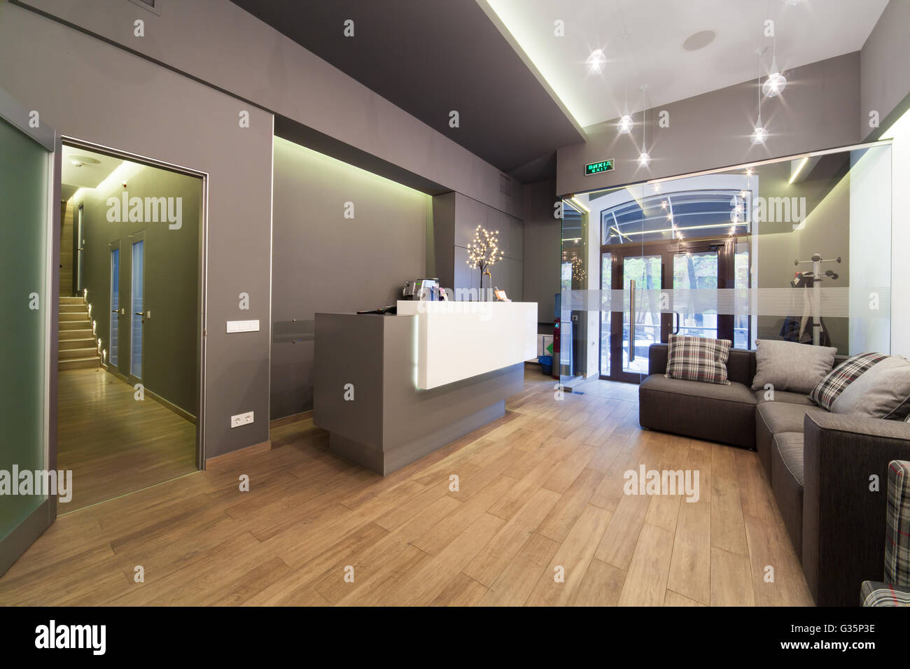 modern interior design lobby at dental clinic stock photo