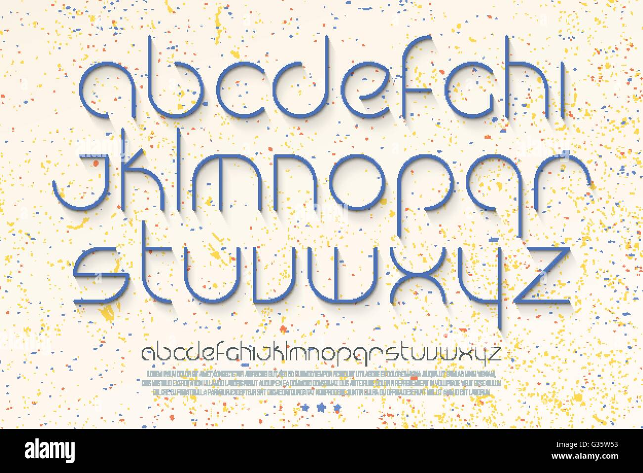 Set Of Stylish Thin Line Alphabet Letters Over White Paper Background Vector Contemporary Light Font Type Premium Quality M
