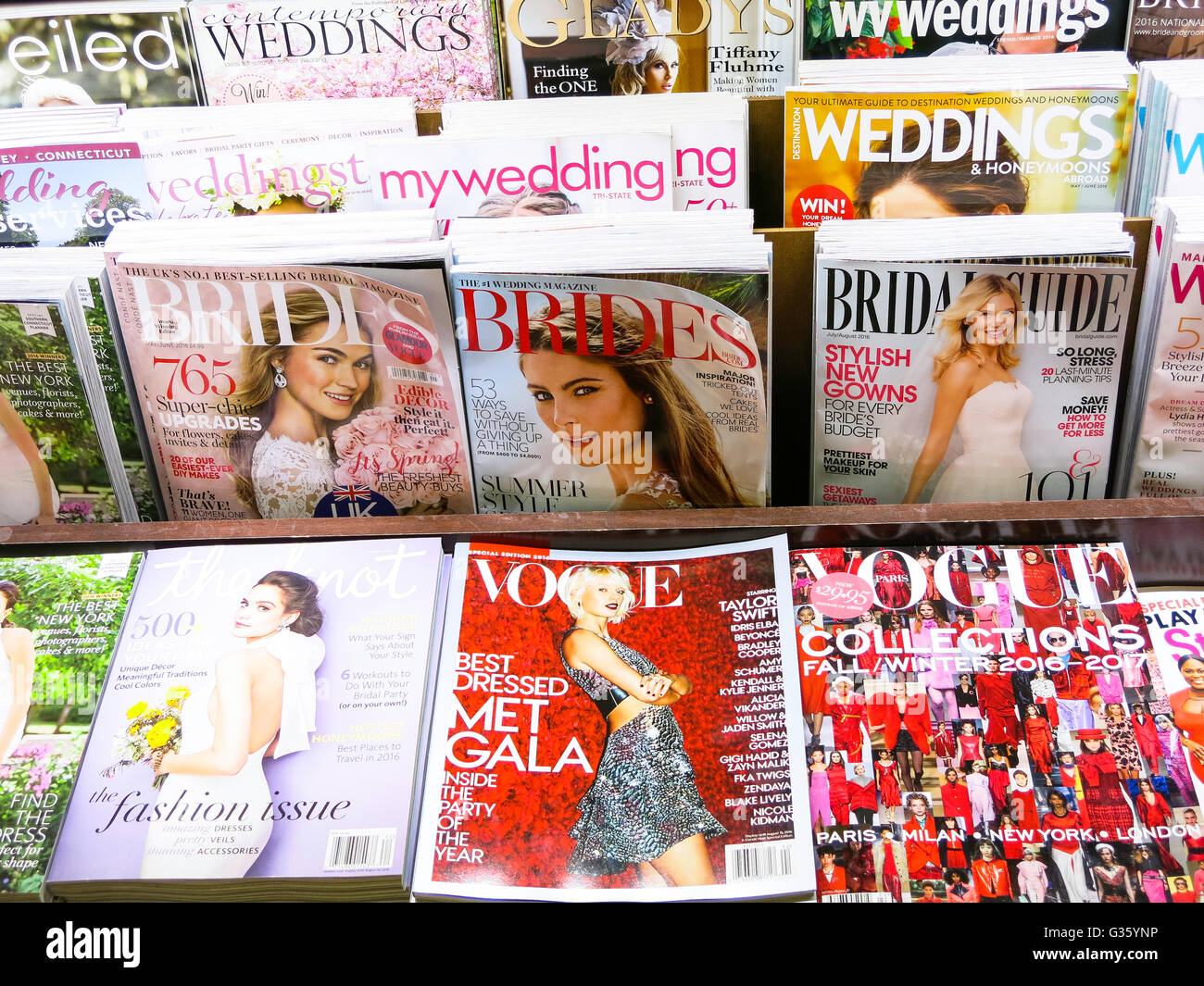 Magazine Stand Featuring Magazine Cover (Covers) - Stock Image