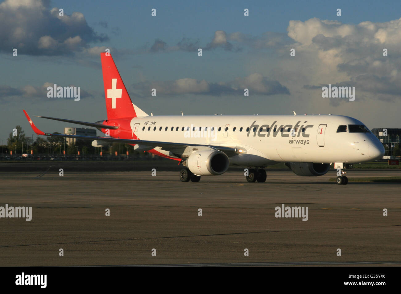 HELVETIC EMBRAER - Stock Image