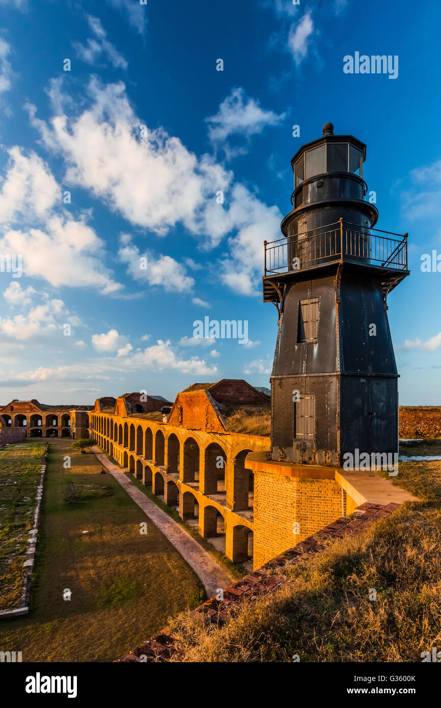 Harbor Light and the elegant ruins of Fort Jefferson on