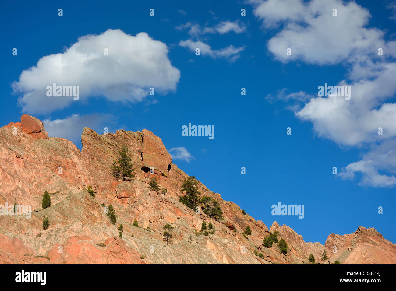 Garden of the Gods in Colorado Springs - Stock Image