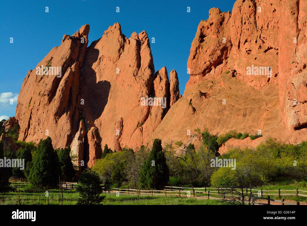 Garden of the Gods Colorado Springs - Stock Image