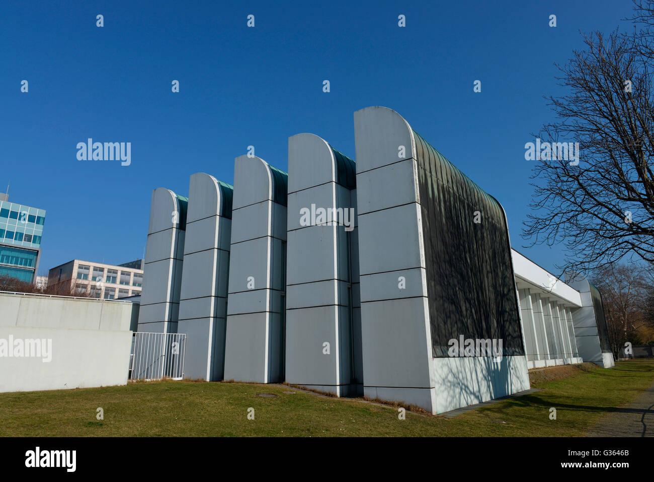 Bauhausarchiv, Museum fuer Gestaltung, Klingelhoeferstrasse, Tiergarten, Berlin, Deutschland / Klingelhöferstrasse - Stock Image