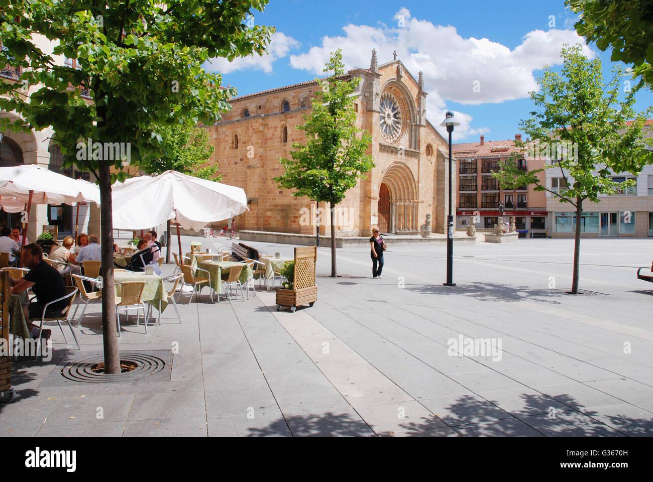 Santa Teresa Square. Avila, Spain. - Stock Image