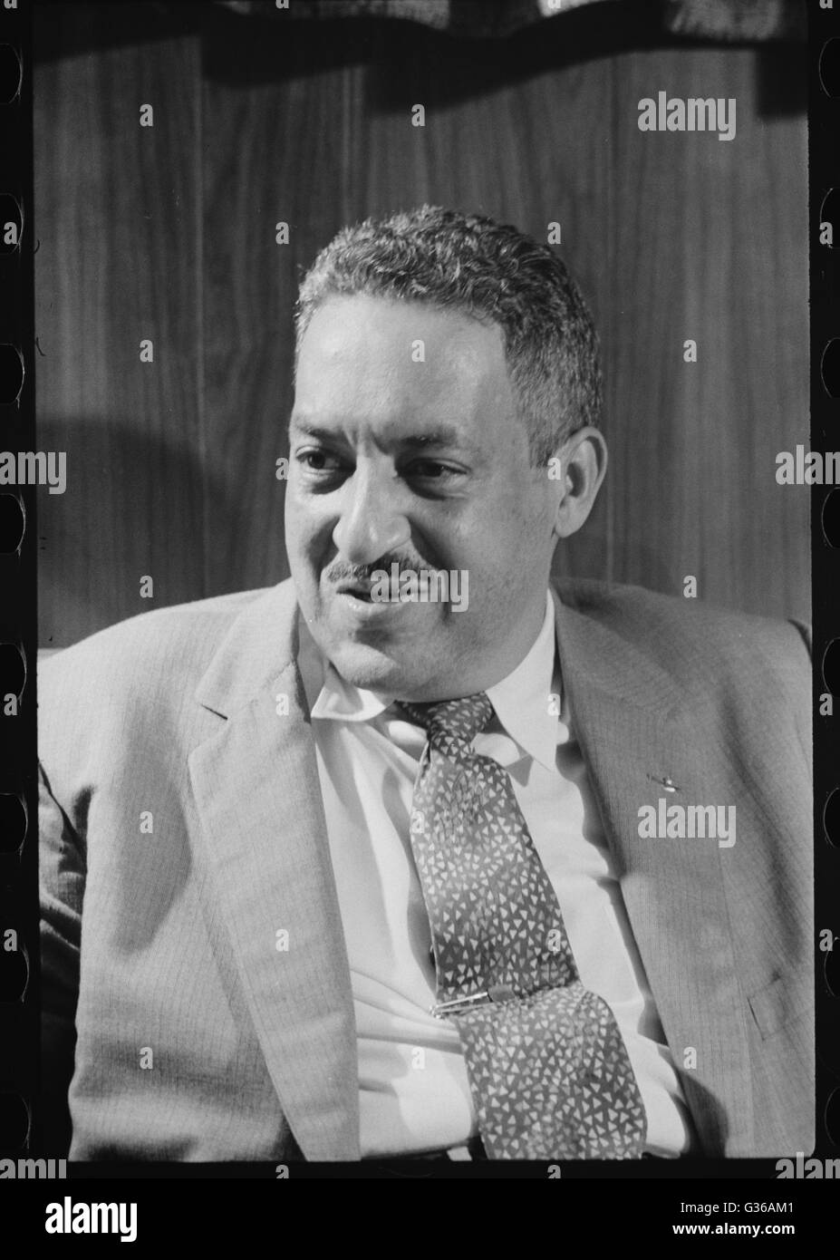 Thurgood Marshall, attorney for the NAACP, would go on to become a Supreme Court Justice. Photo by Thomas J.O'Halloran. - Stock Image