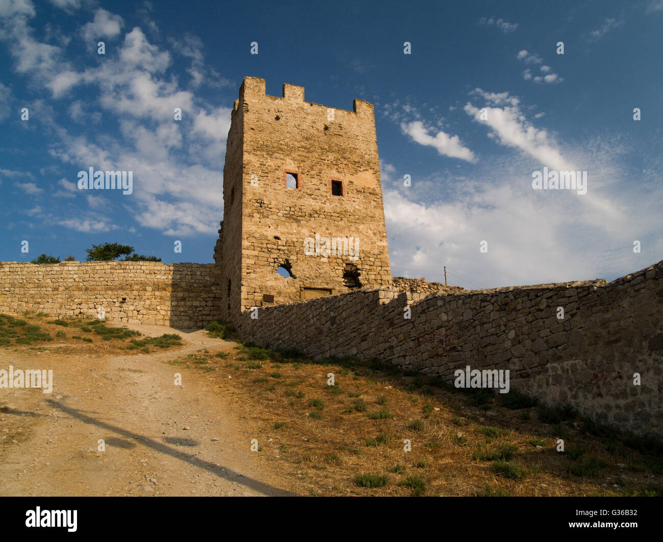 Southern architecture hot summer in a sunny day - Stock Image