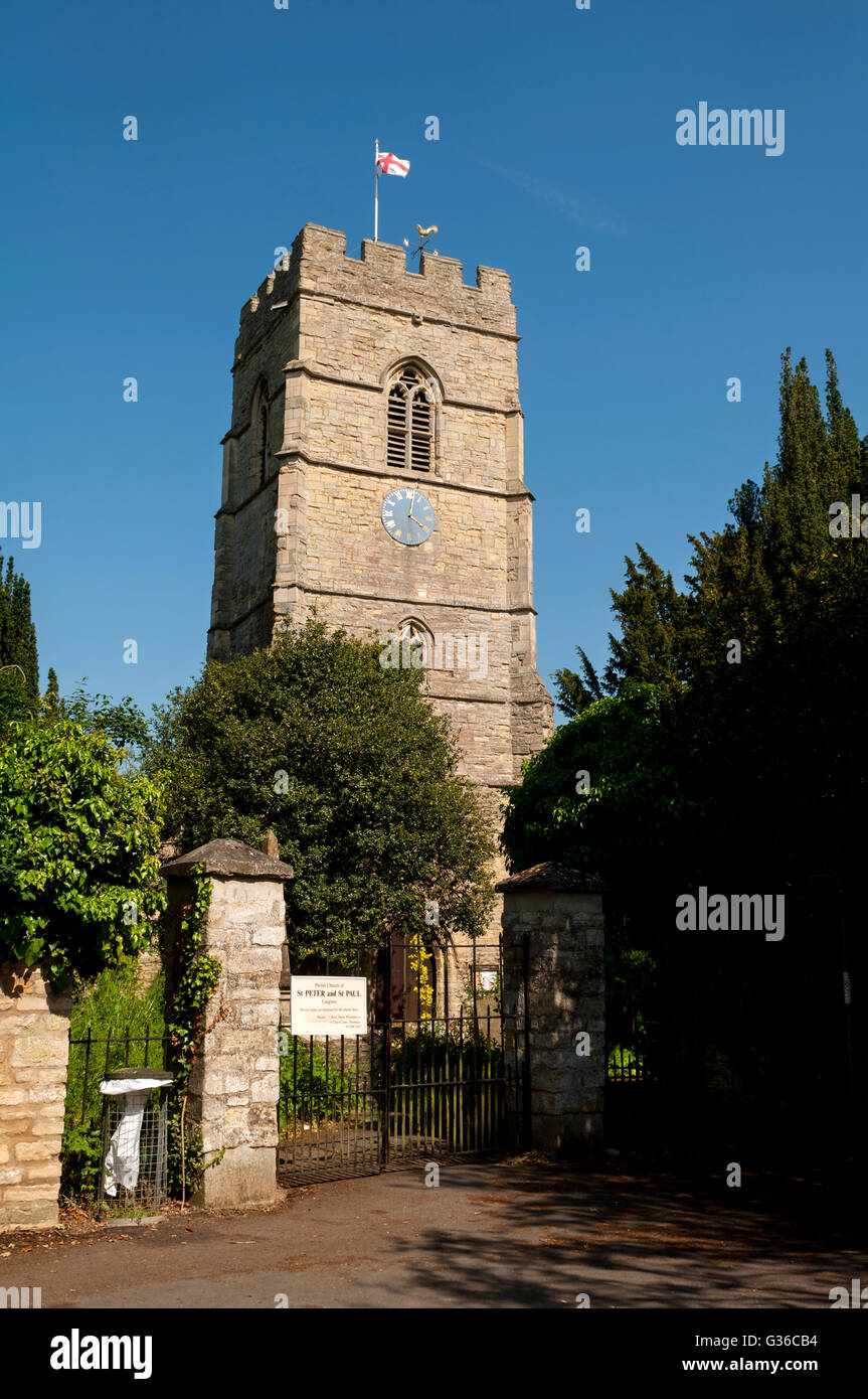 St. Peter and St. Paul Church, Cosgrove, Northamptonshire, England, UK - Stock Image