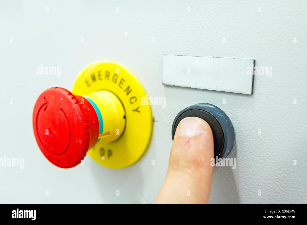 reset fuse box with emergency red shutdown panic button stock rh alamy com fuse box restore fuse box restaurant