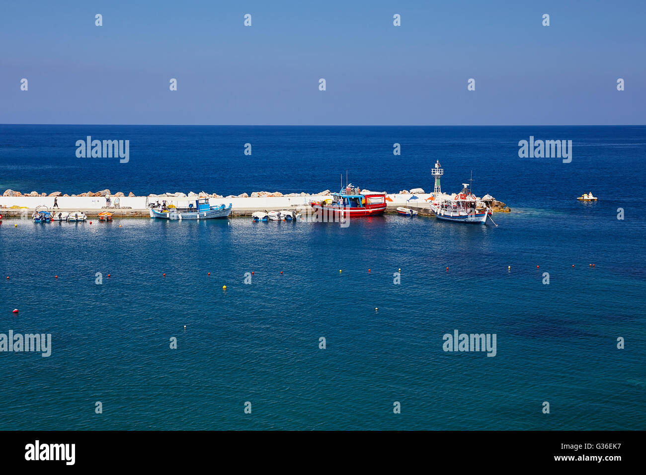 Seacoast at Bali on the Crete island in summer - Stock Image