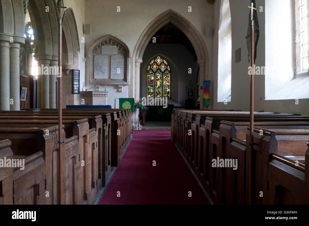 St. Peter and St. Paul Church, Cosgrove, Northamptonshire, England, UK - Stock Image