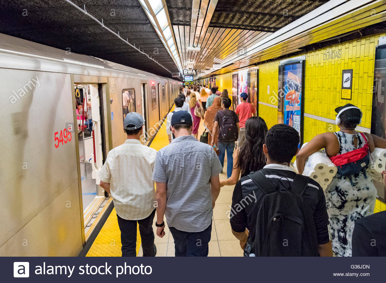 People Getting Off Subway Train Stock Photos & People ...