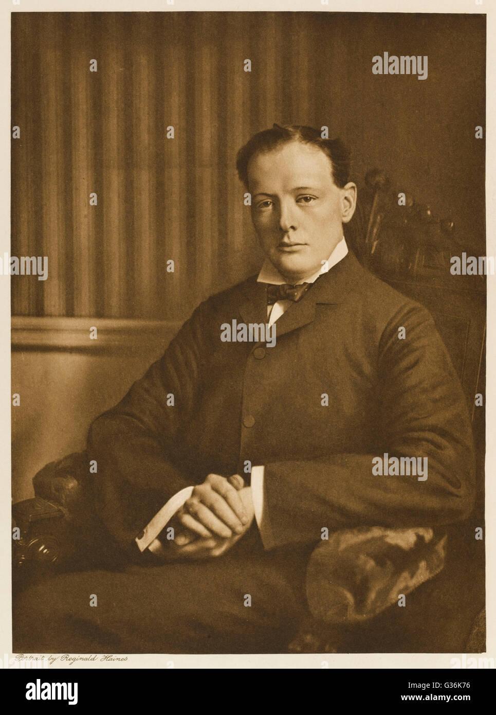 Winston Churchill (1874-1965)     Date: 1906 - Stock Image