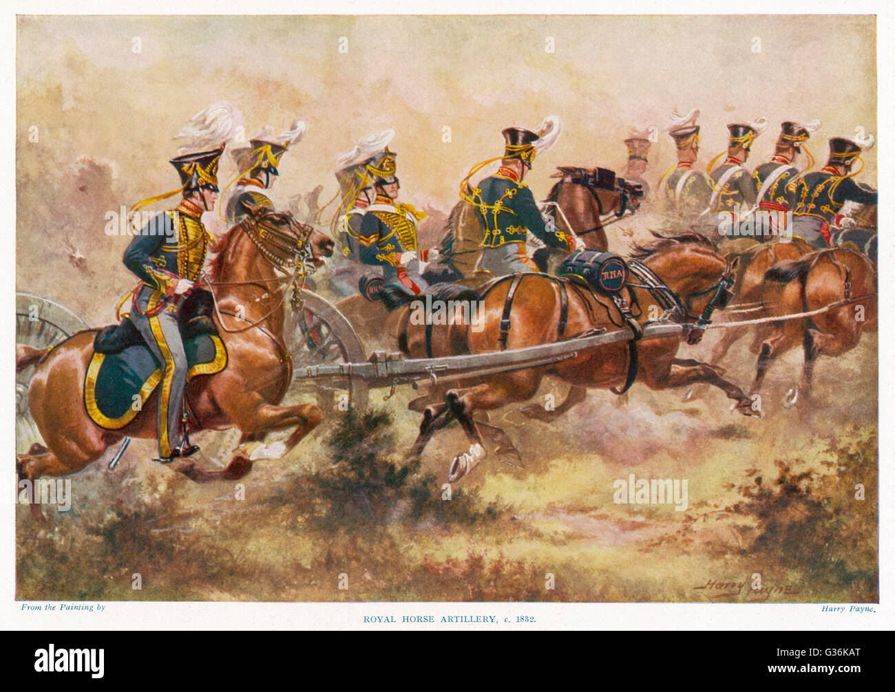 British Royal Horse Artillery In Action 19th Century Date 1832 Stock Photo Alamy