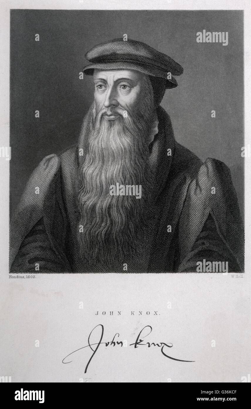 John Knox (1505-1572) SCOTTISH PROTESTANT DIVINE - Stock Image