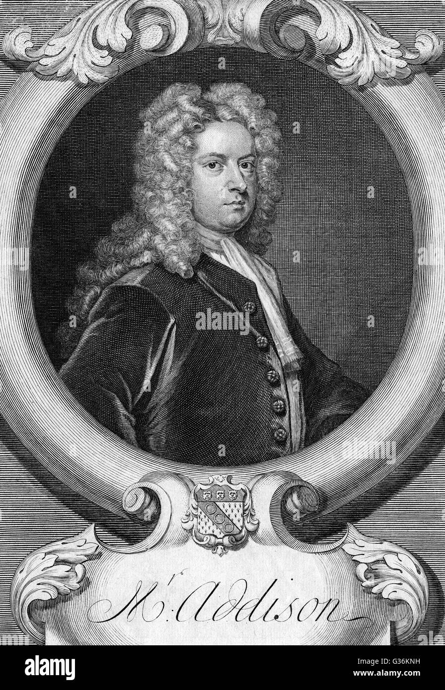 JOSEPH ADDISON Statesman (1672-1719), journalist famous for his ...