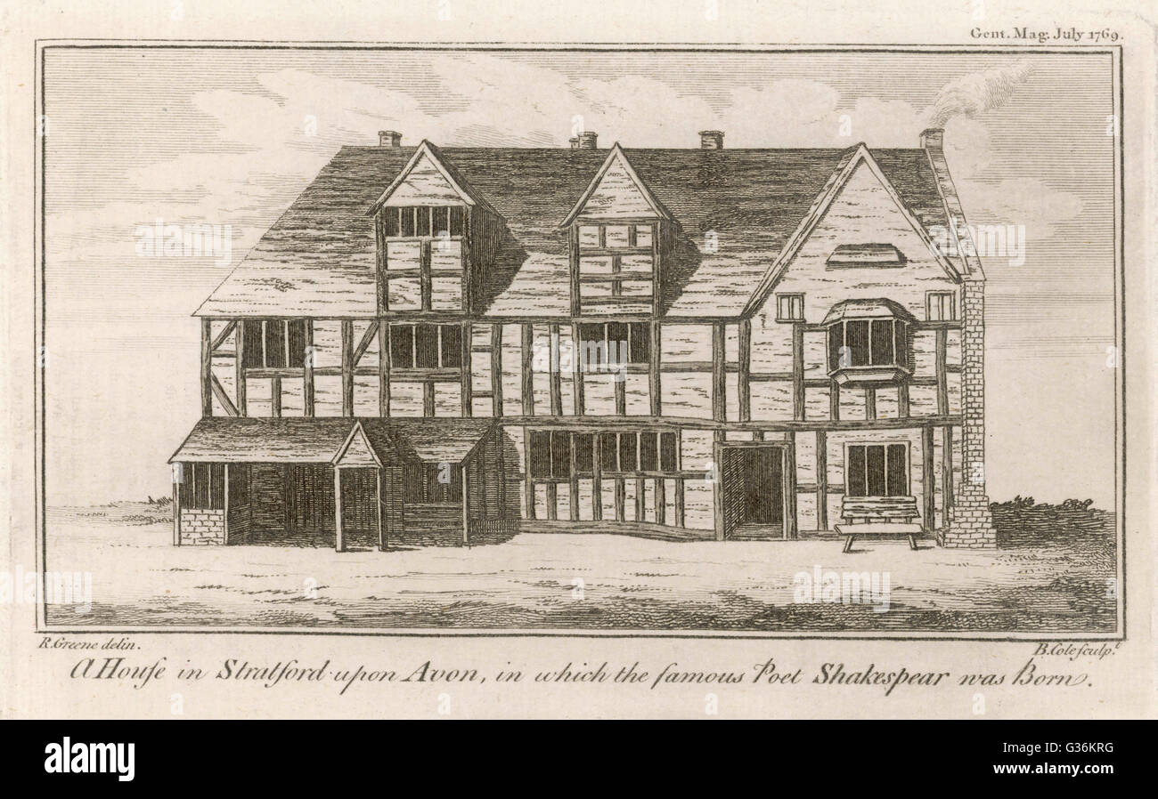 William Shakespeare 1564 1616 The House In Stratford Upon Avon