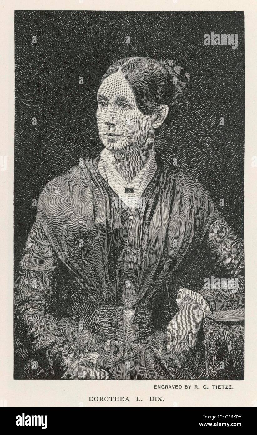 Dorothea Lynde Dix (1802-1887) American reformer - Stock Image