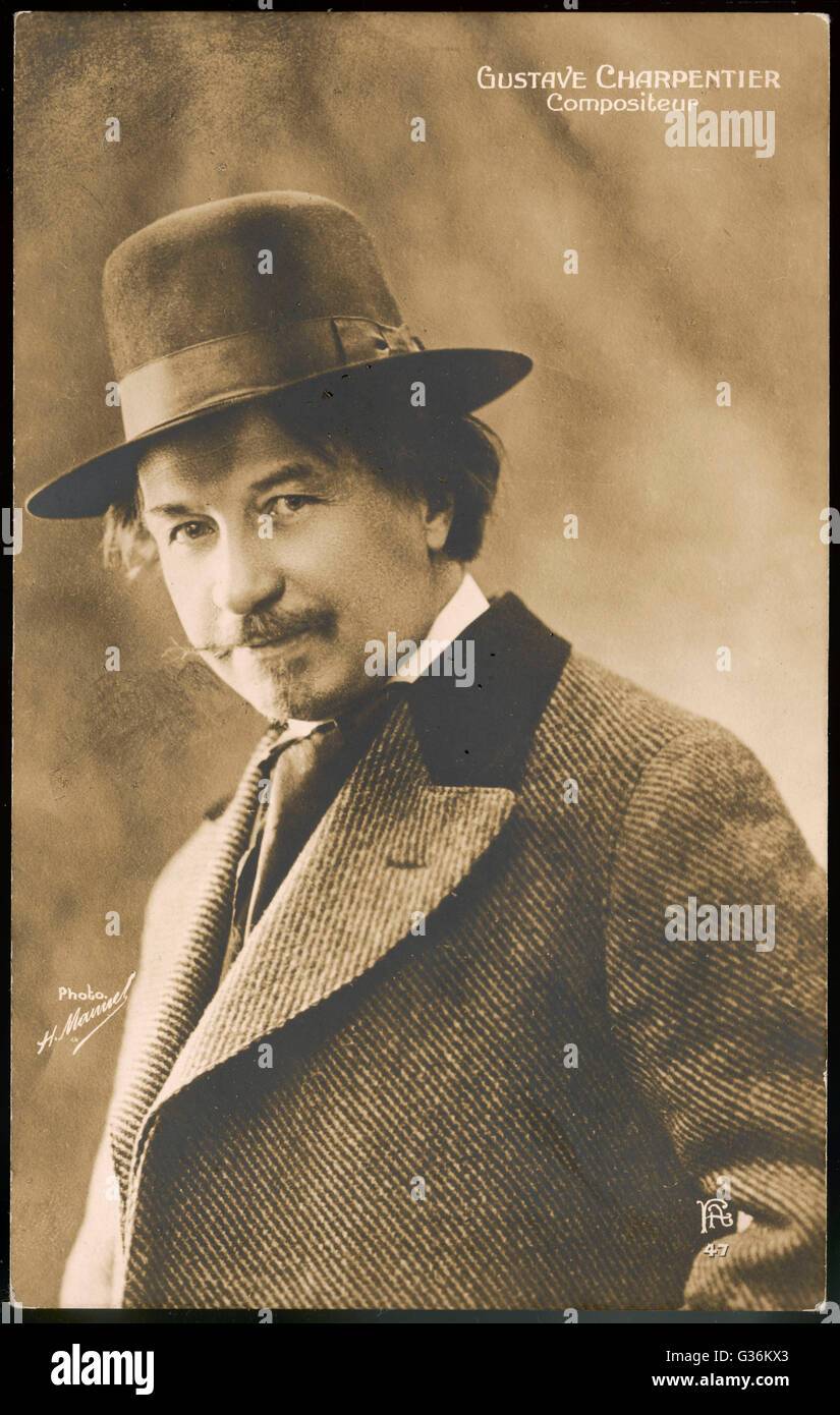 Gustave Charpentier (1860 - 1956)  French composer - Stock Image