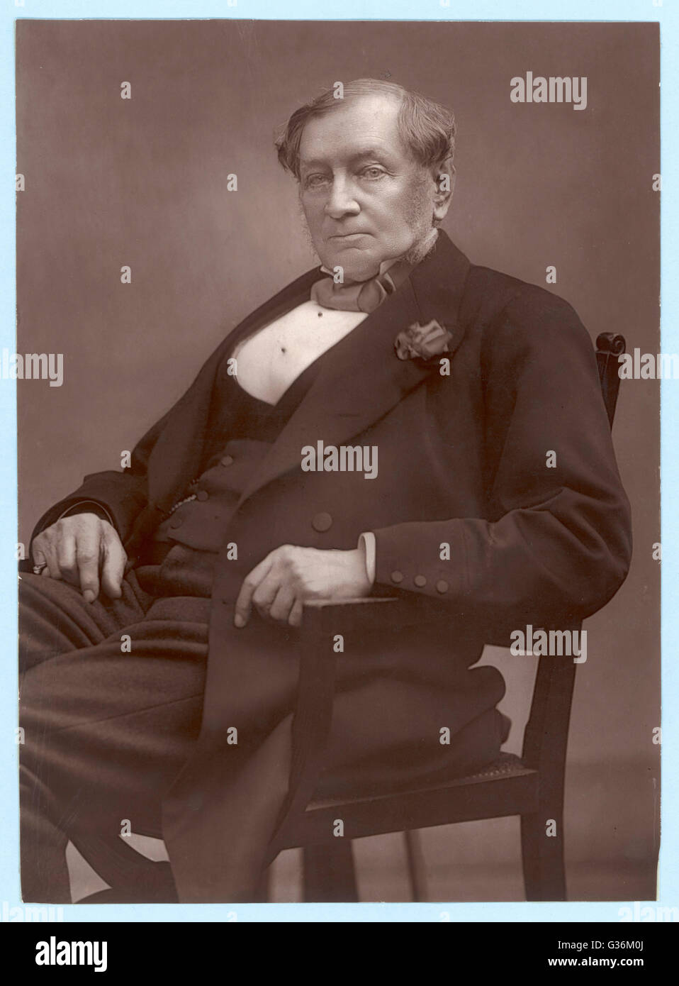 (1816-1889) (1816-1889) Merchant associated with the Great  Eastern. Stock Photo