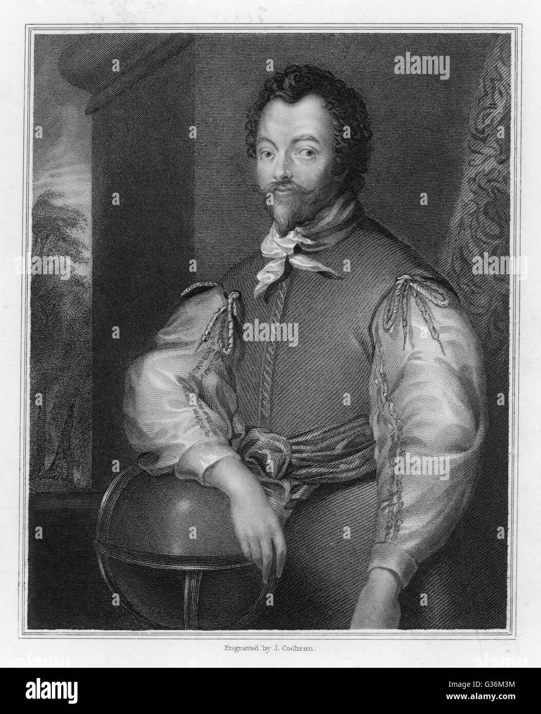 Sir Francis Drake (1545-1596) English Admiral - Stock Image