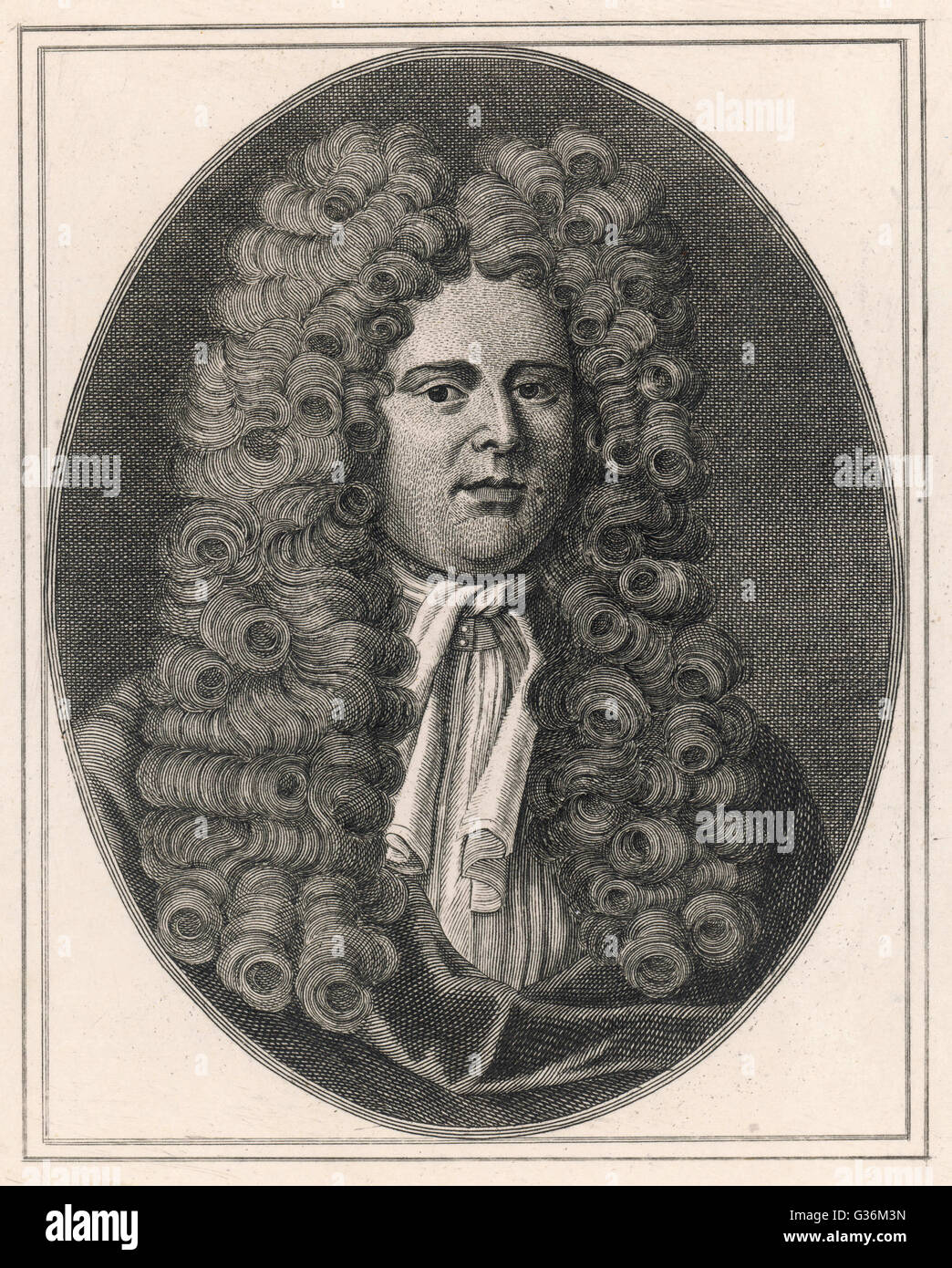 Daniel Defoe (1661-1731) English journalist  and novelist - Stock Image