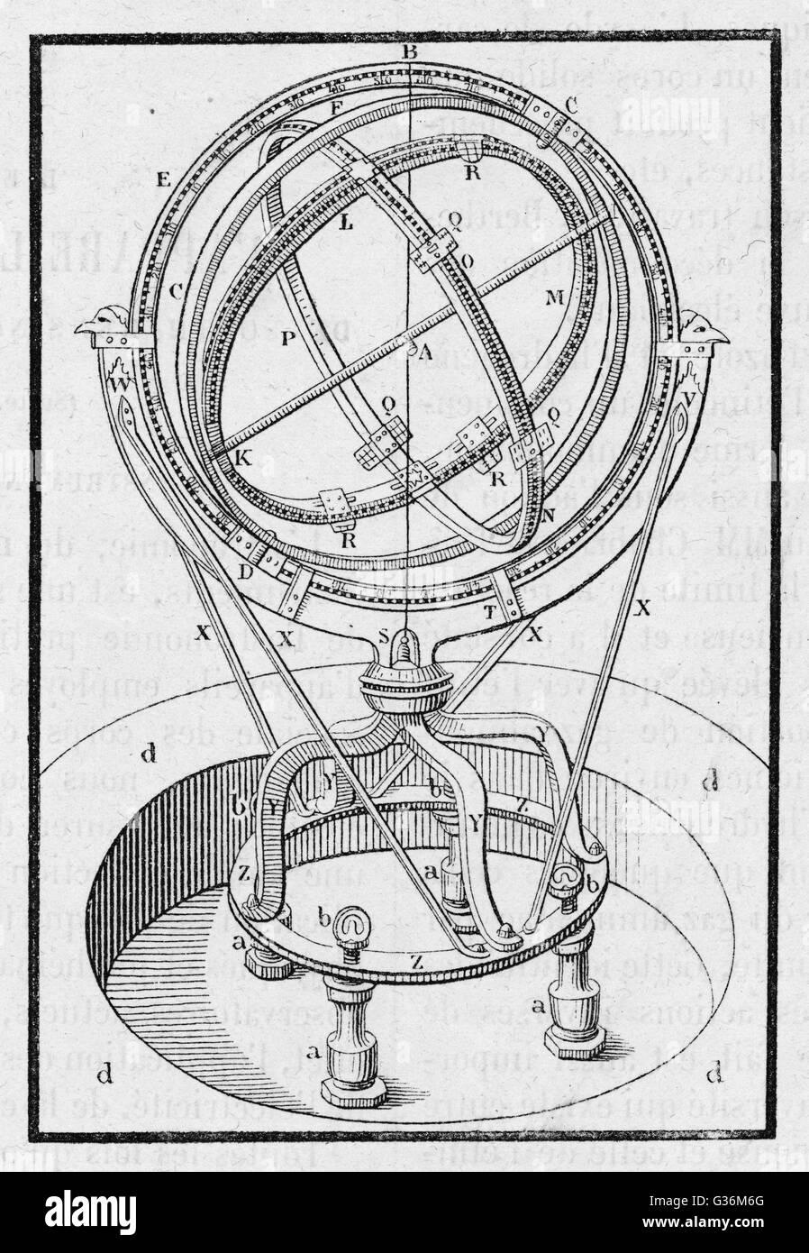 Astrolabe of Tycho Brahe - Stock Image