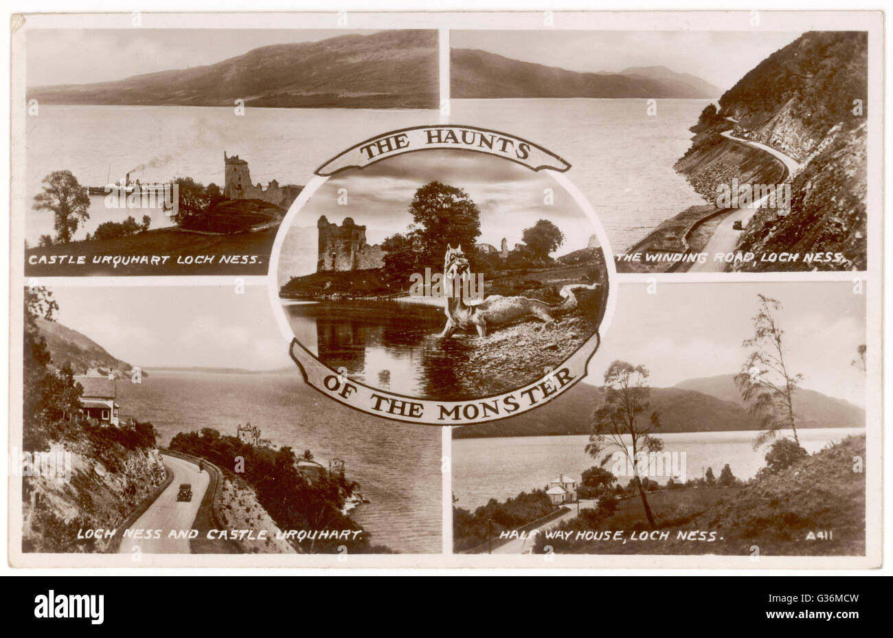 Haunts of the Loch Ness Monster     Date: 1930s - Stock Image