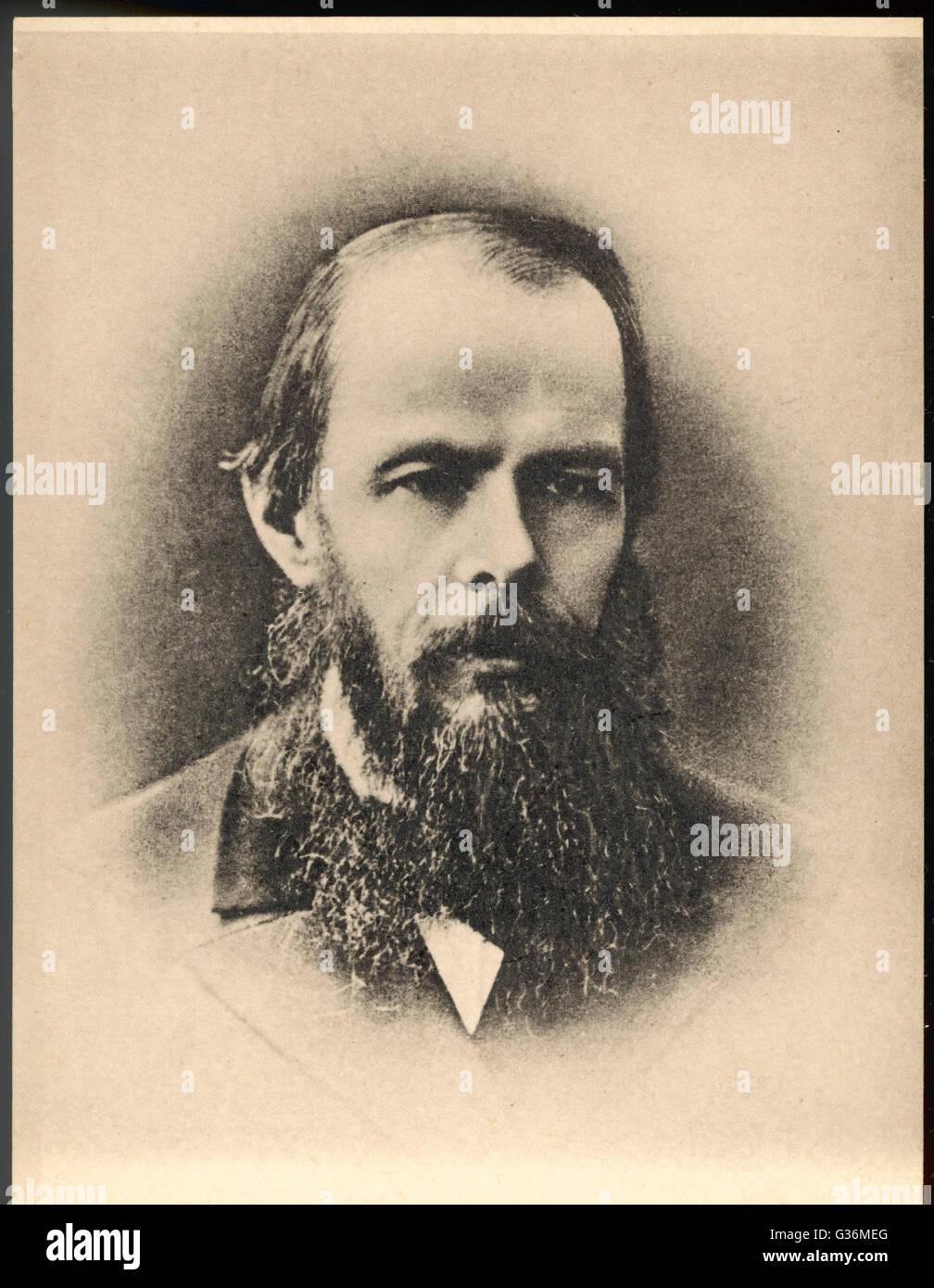 Feodor Dostoyevsky (1821-1881) Russian writer - Stock Image