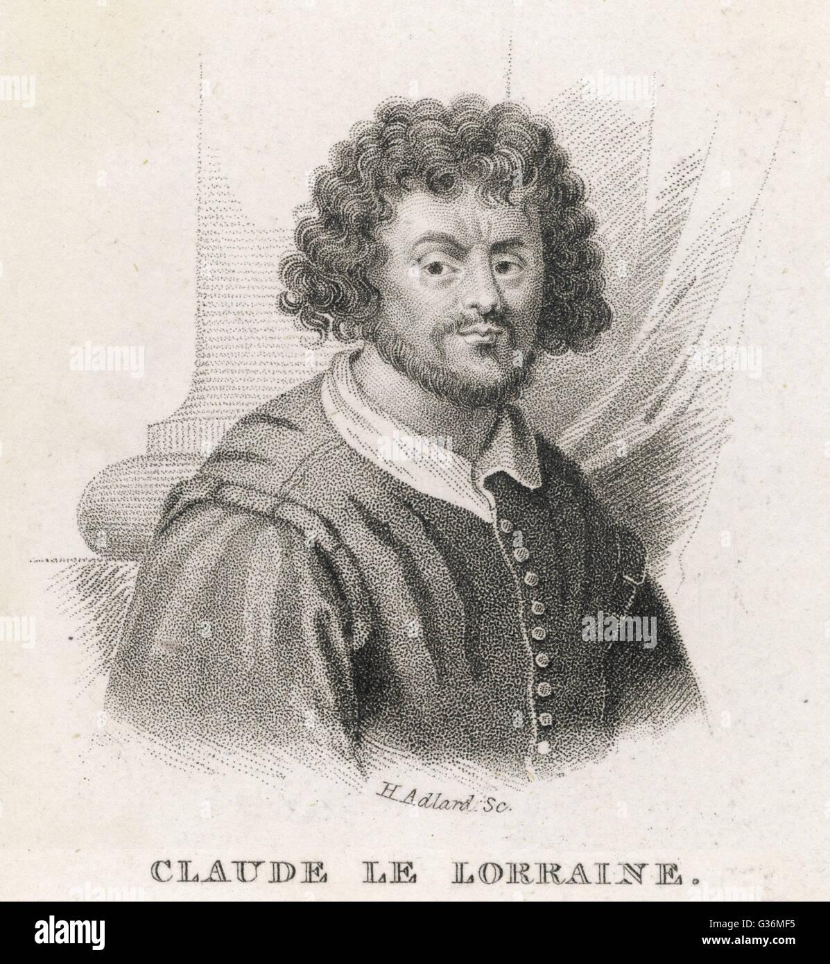 Claude Le Lorrain (1600-1682) French Artist. - Stock Image