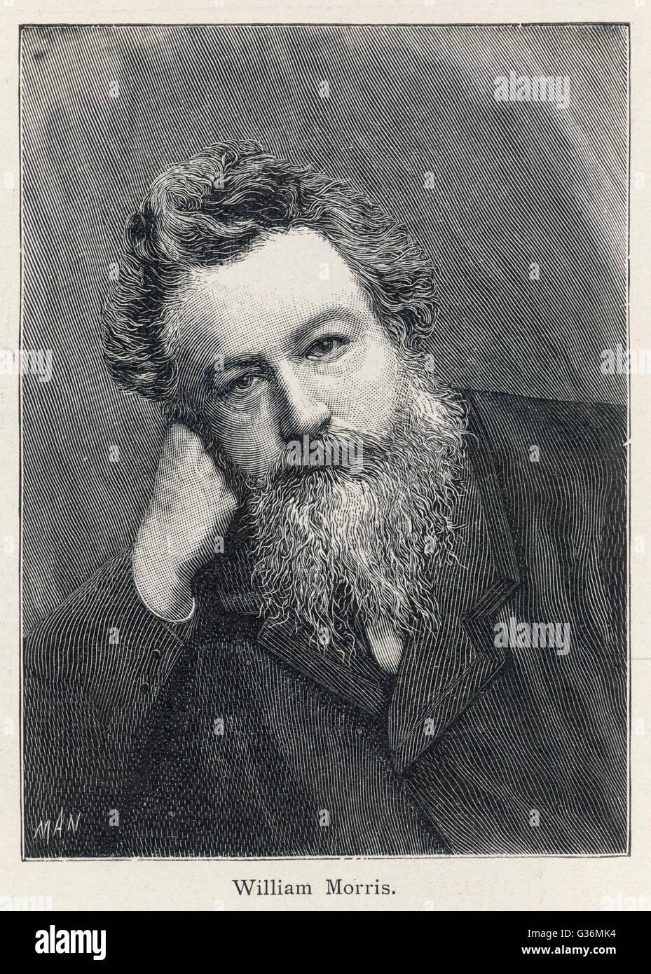 William Morris (1834-1896) writer, artist, designer - Stock Image