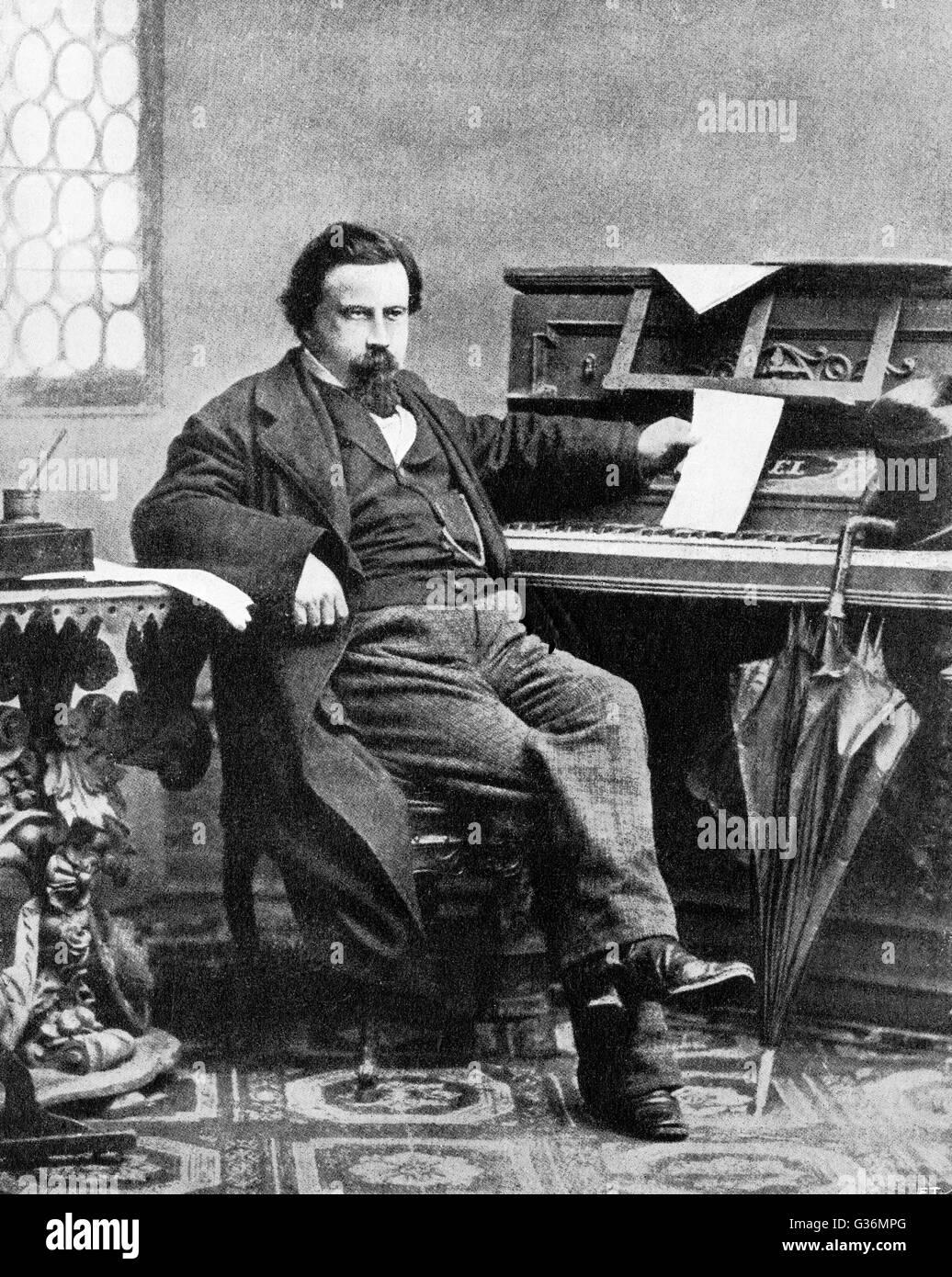 Amilcare Ponchielli (1834-1886) Italian composer - Stock Image
