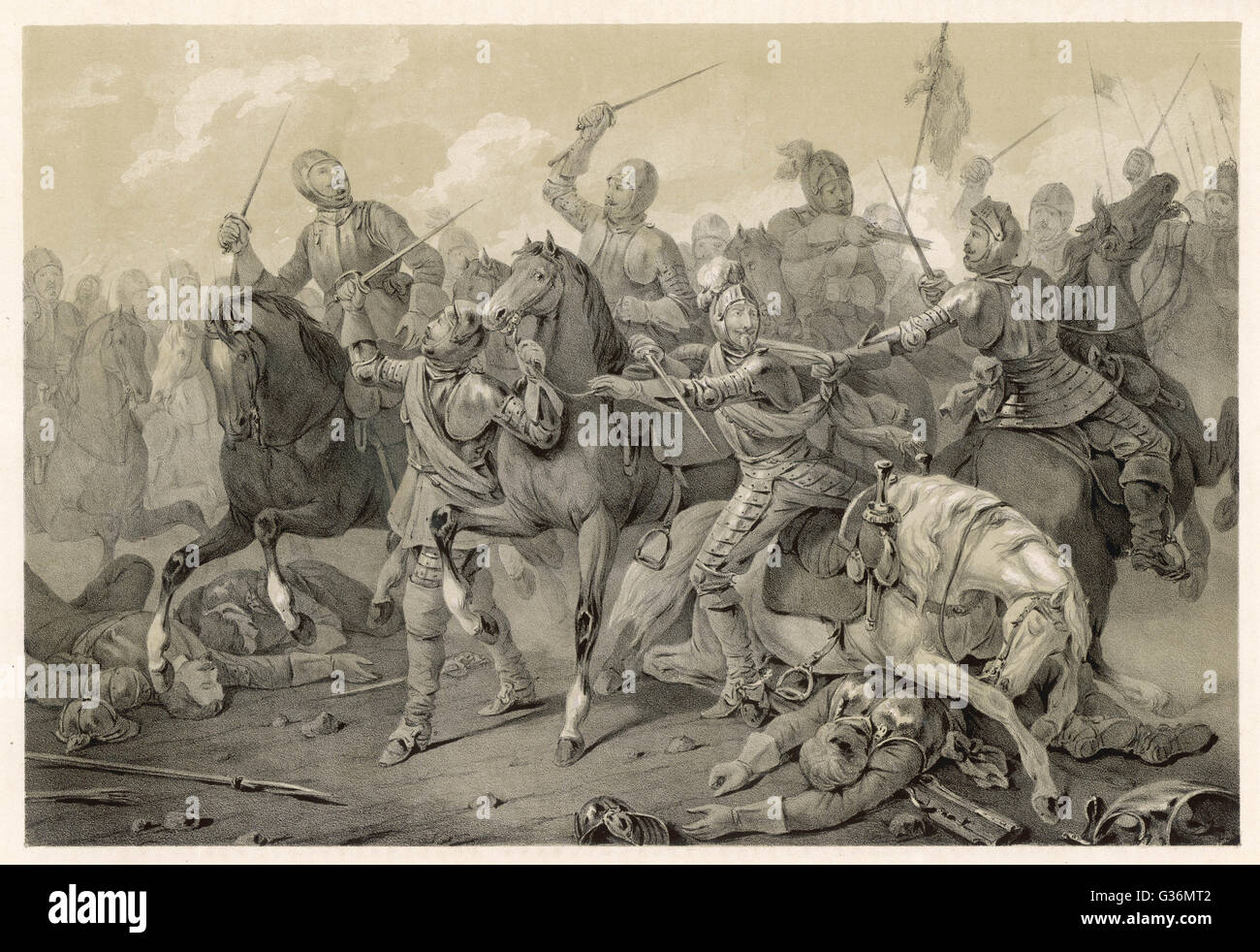 Christian IV of Denmark is  decisively beaten by the  Imperial army under Tilly at  the BATTLE OF LUTTER       Date:Stock Photo