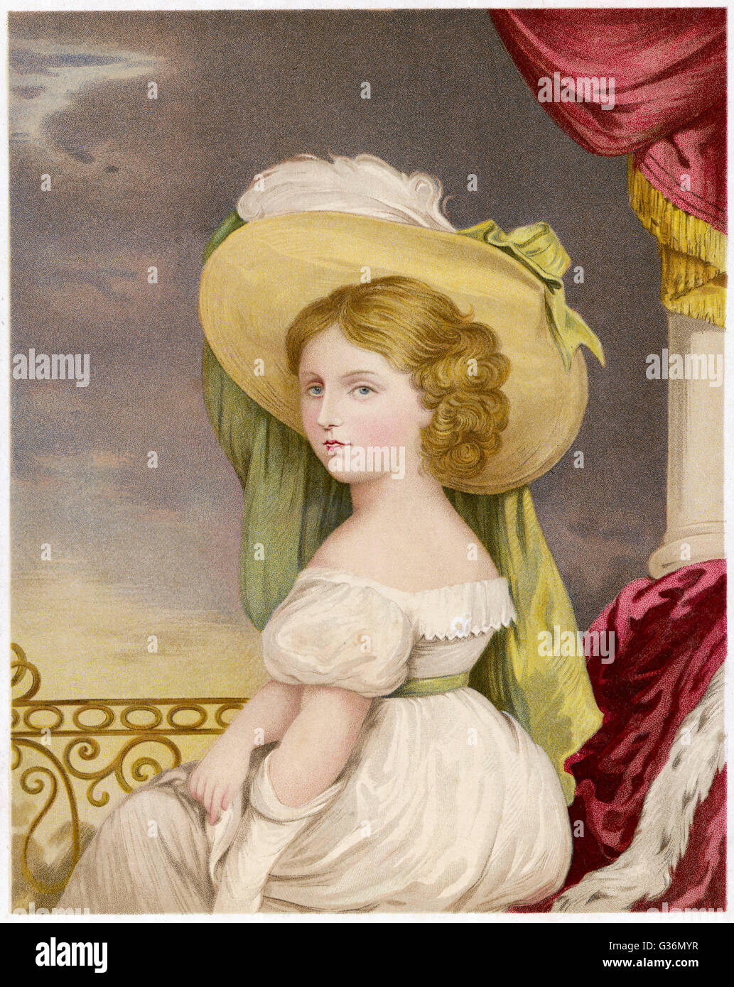 PRINCESS VICTORIA (1819-1901) at the age of twelve - Stock Image