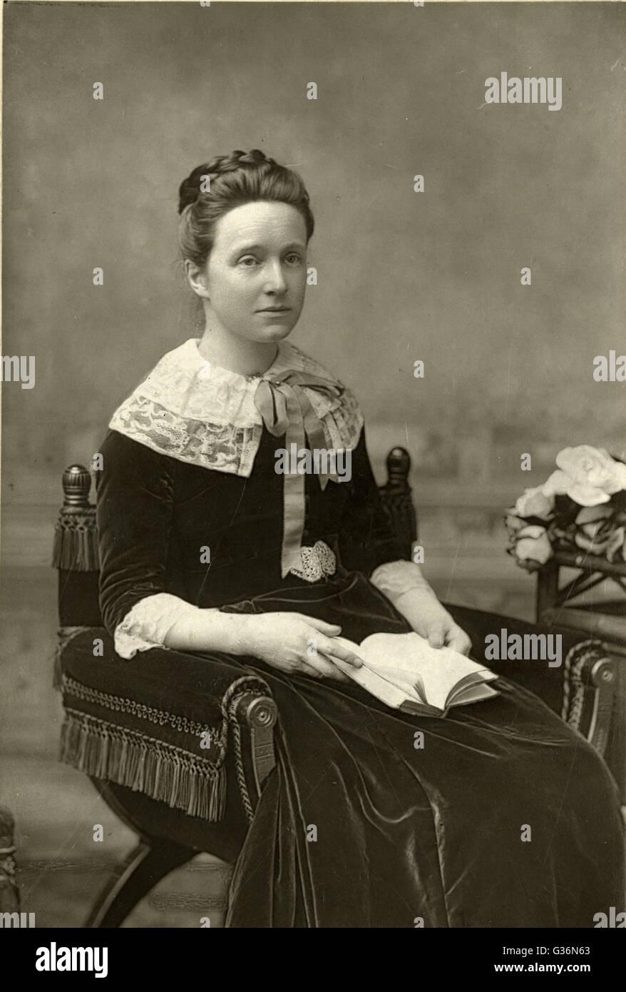 Millicent Garrett Fawcett (1847-1929), suffragist and early feminist, co-founder of Newnham College, Cambridge, - Stock Image