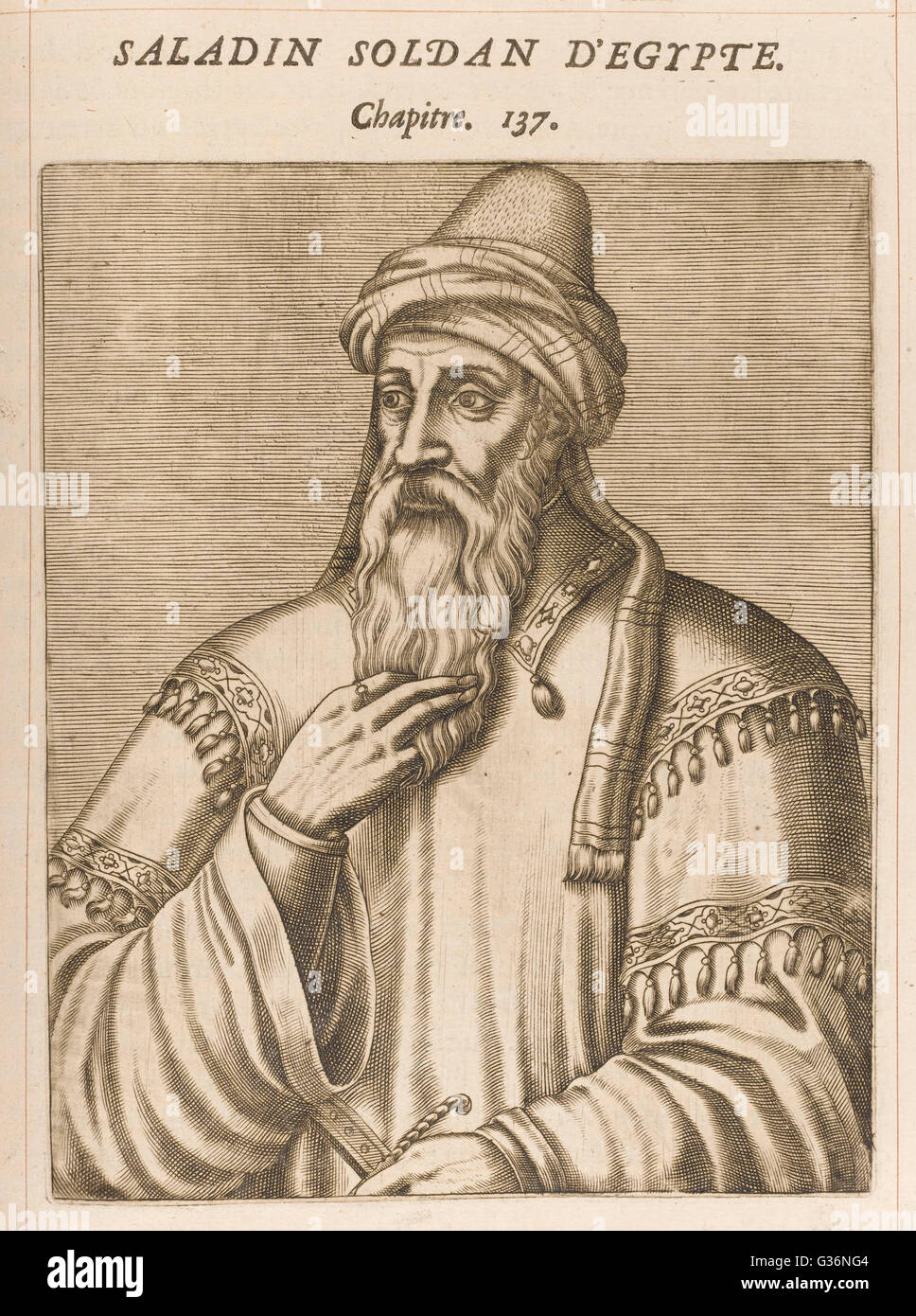 Salah Ad-Din Yusuf Ibn Ayyub (1138-1193), known as Saladin, Muslim Sultan of Egypt and Syria (reigned 1174-1193). - Stock Image