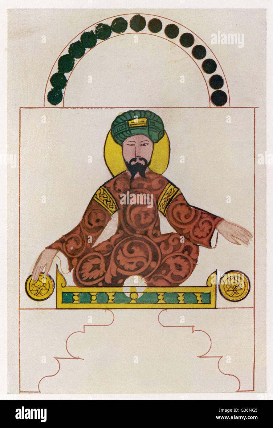 Salah Ad-Din Yusuf Ibn Ayyub(1138-1193) , known as Saladin, Muslim Sultan of Egypt and Syria (reigned 1174-1193). - Stock Image