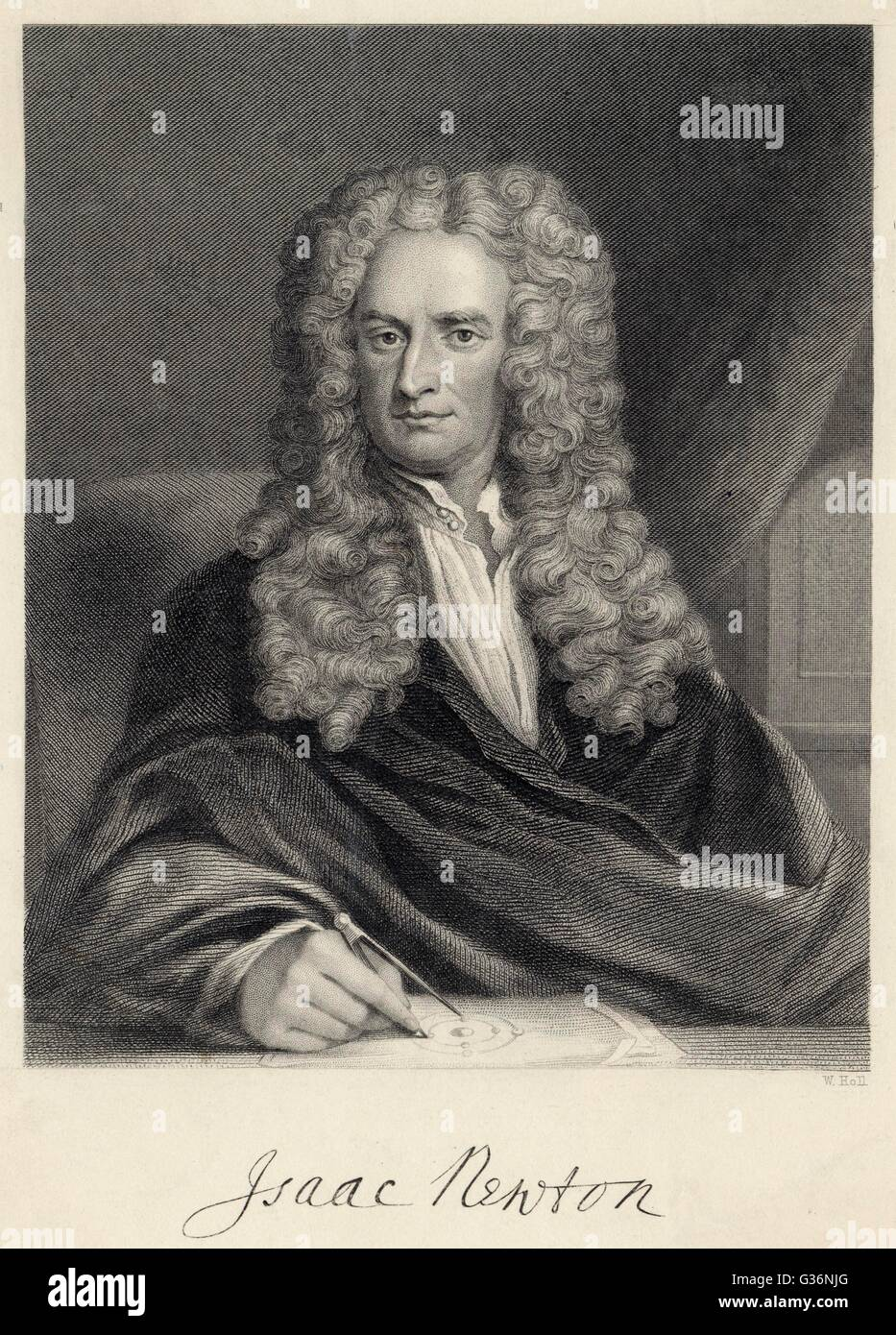 Sir Isaac Newton (1642-1727), English mathematician, physicist, astronomer,  natural philosopher, alchemist, theologian and occultist. Date: 1680s